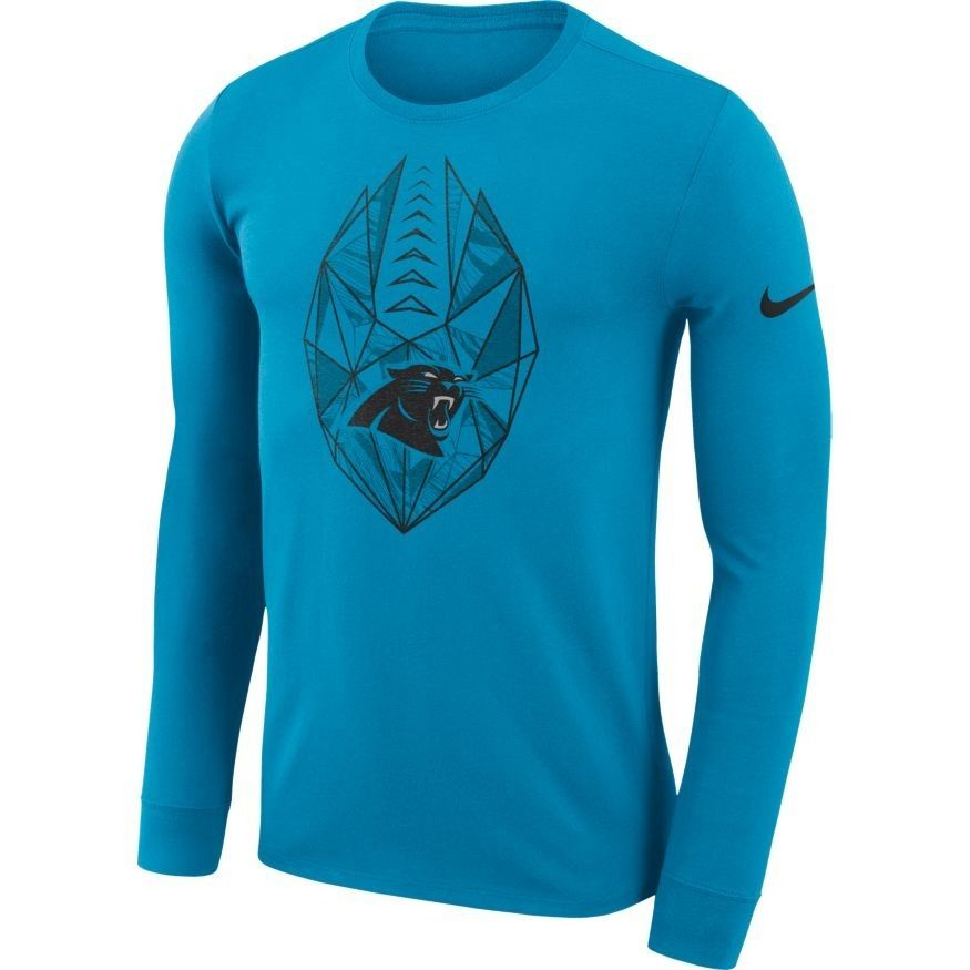 ee55e04ca Men's Blue Nike Icon L/S T-Shirt | Carolina Panthers Official Shop