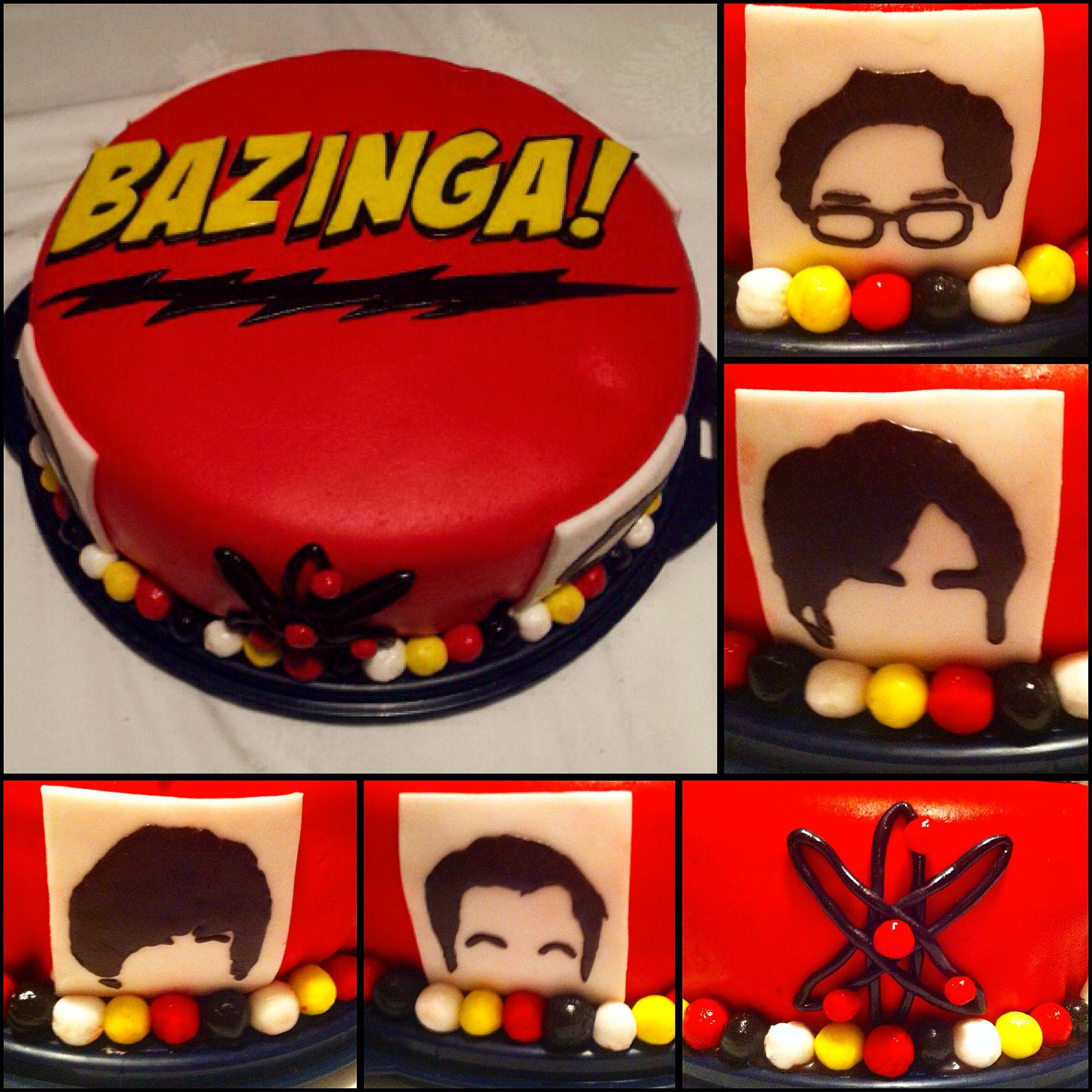 The Big Bang Theory Cake Fondant Bazinga