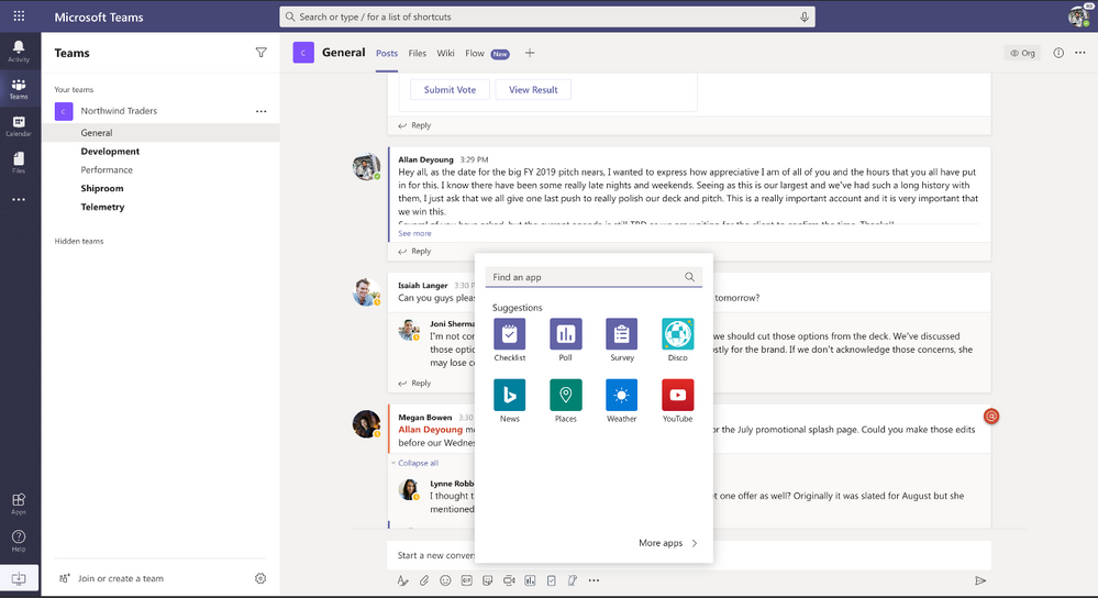 Update On Kaizala Features Coming To Microsoft Teams Microsoft Sharepoint Mobile Chat App