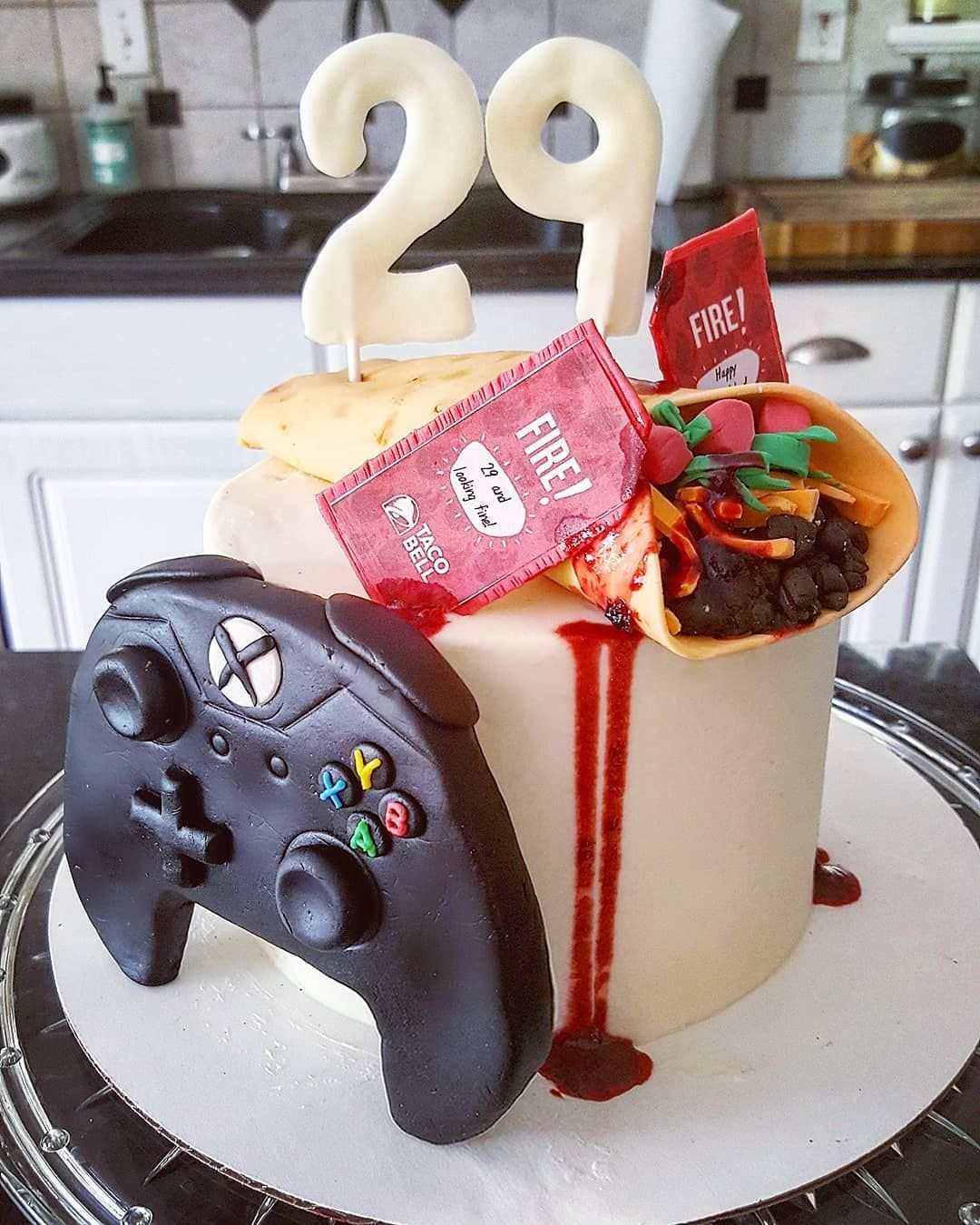 Taco Bell Gamer Cake Cakes Today Ghirardelli Chocolate Cake