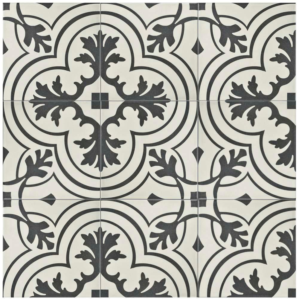 Merola Tile Twenties Vintage Ceramic Floor And Wall Tile In - Encaustic tile home depot