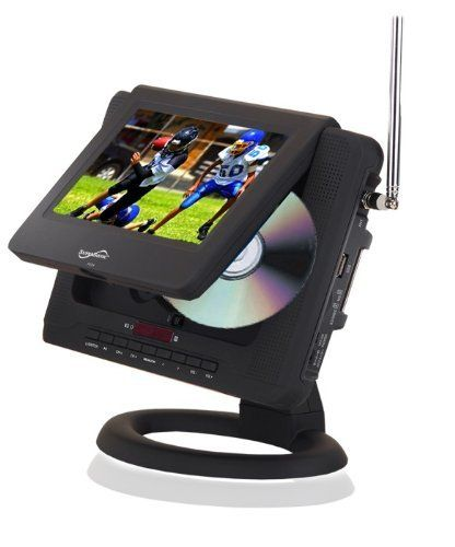 7 Inch Supersonic SC 491 AC DC Portable Color TFT LCD TV Monitor Digital ATSC Tuner And DVD Player By 12094