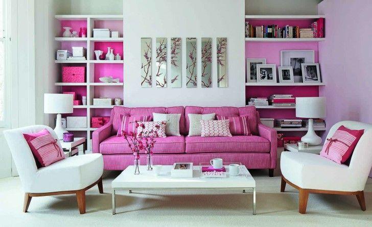 Interior. Chic Design Ideas Of Pink Interiors. Pretty Pink Interior ...