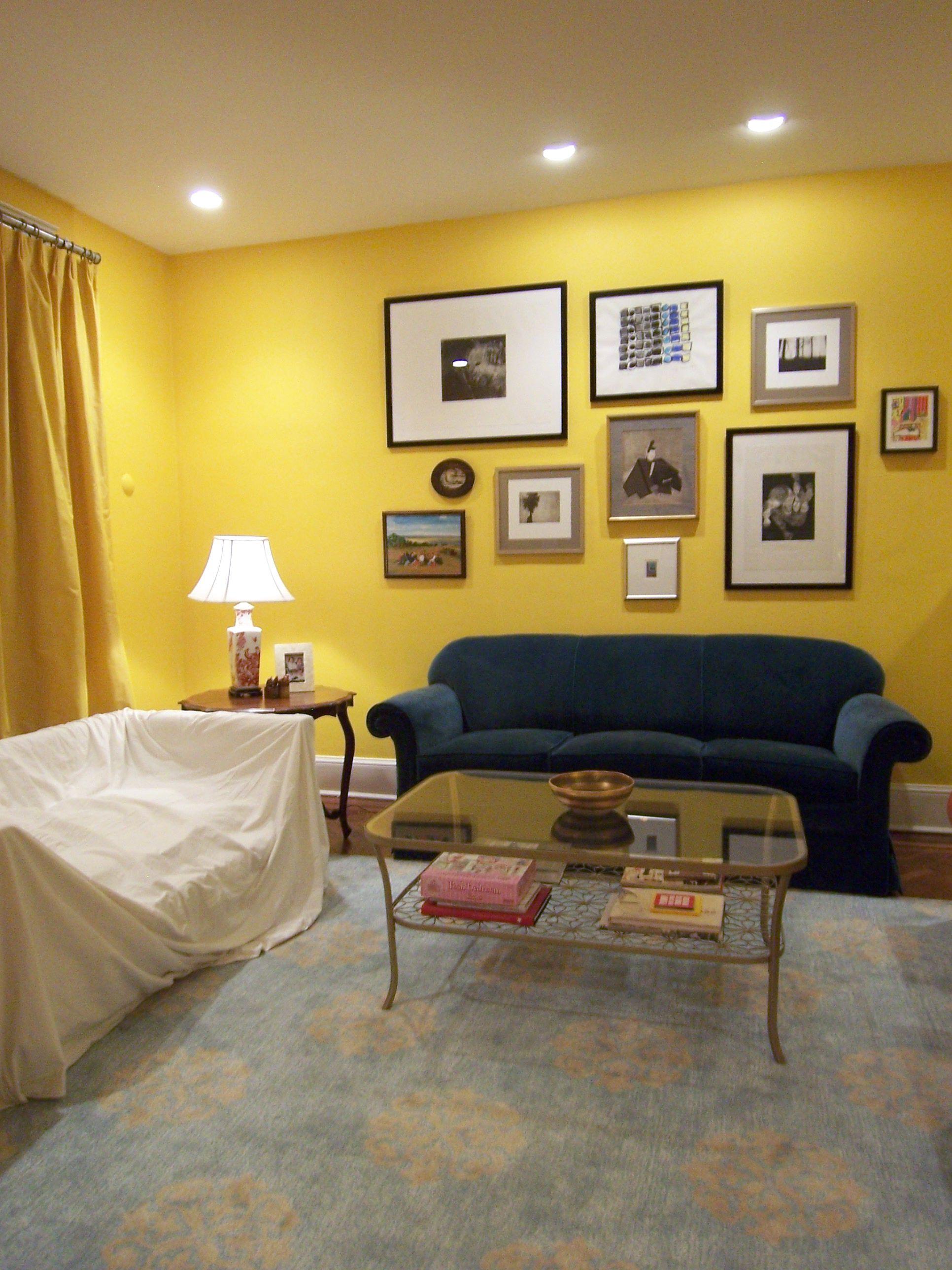 Ideas Narrow Yellow Theme Livingroom Round Teak Varnished Side Table ...