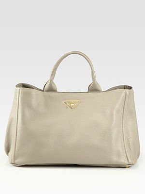 ab074691b8 Prada Vitello Daino East West Tote Bag... love this roomy tote ...