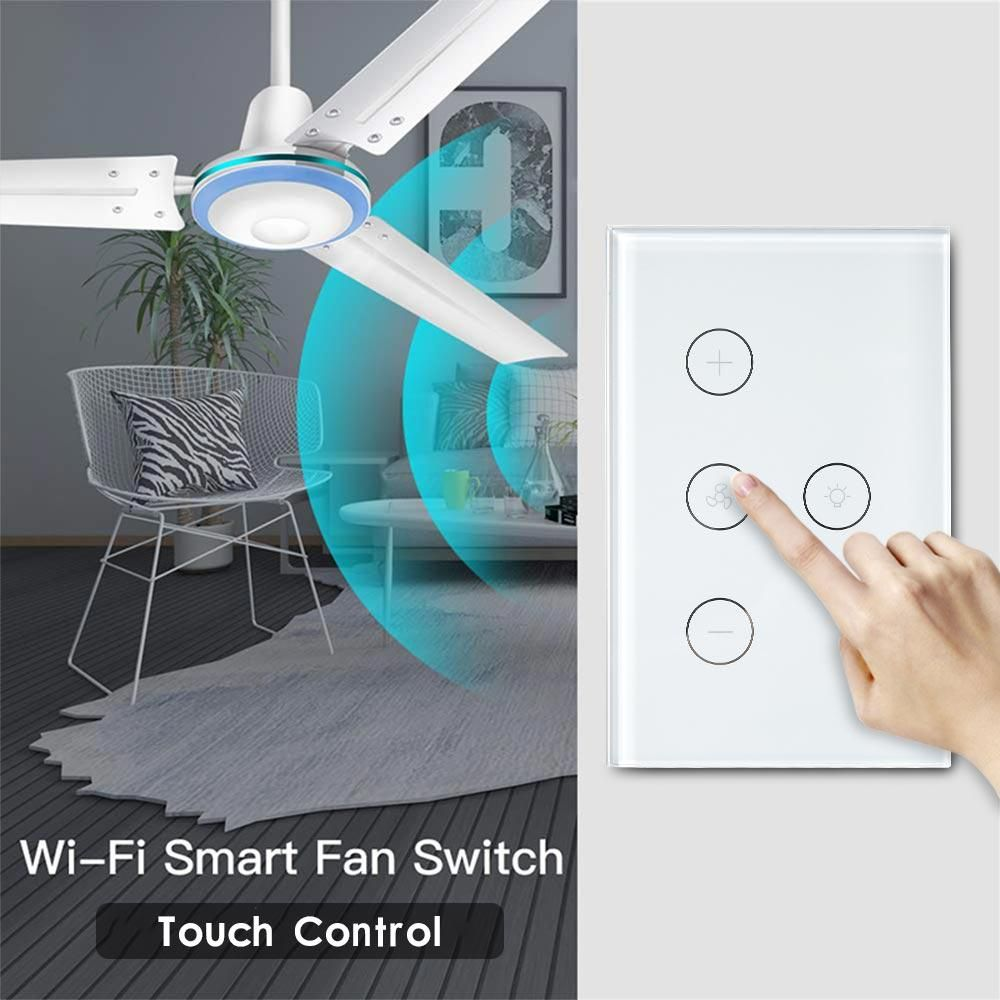 wifi smart ceiling fan light switch us standard life app remote control interruptor work with alexa google home price 4 blade
