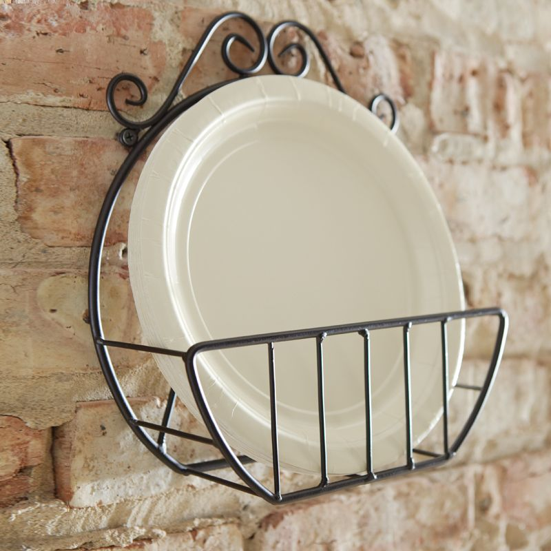 H&ton Paper Plate Holder Even your paper dinnerware will look lovely in this convenient and beautiful holder. 9 paper plates will fit in its pocket and it ... & Pin by Keri N on Kitchen | Pinterest | Plate holder Pine and Plate ...