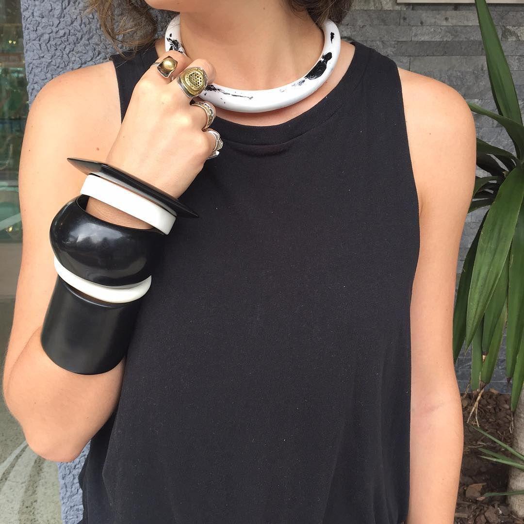 Weekend wardrobe #dinosaurdesigns #handmade #jewellery #design #style #fashion #paddington #weekend #blackandwhite