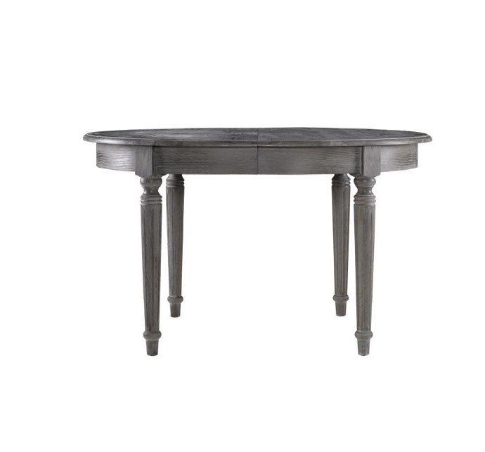 French Oak Gray Round Extendable Dining Table 48 Zin Home