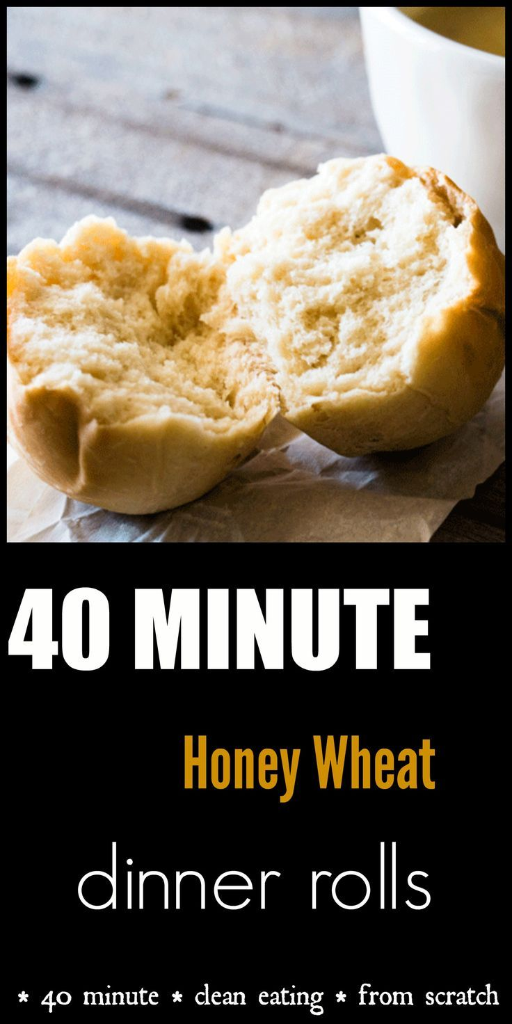40 Minute Honey Wheat Dinner Rolls. Warm and comforting dinner rolls on the table 40 minutes from start to finish. Light, fluffy and delicious