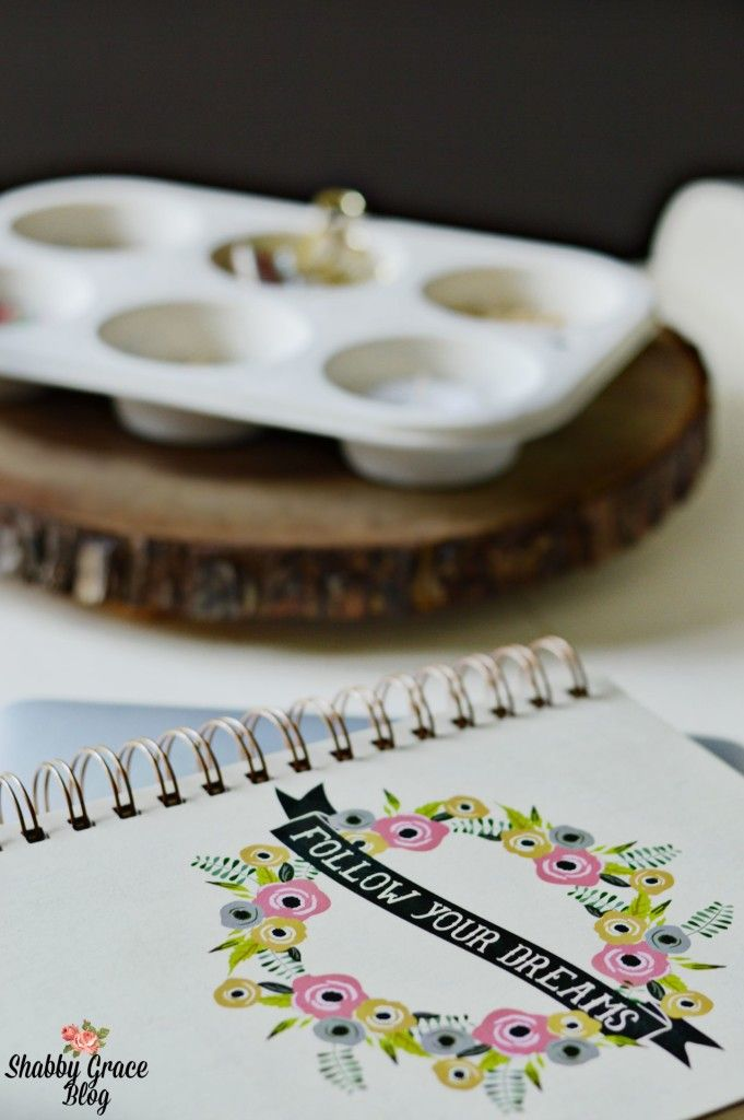 Want a clever way to organize your office and small necessities? I used an inexpensive and thrifted muffin pan to make an adorable organizer for my office!