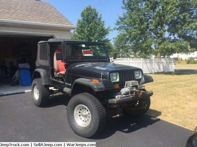 95 39 yj jeep wrangler garage kept 4cyl 5 spd manual. Black Bedroom Furniture Sets. Home Design Ideas