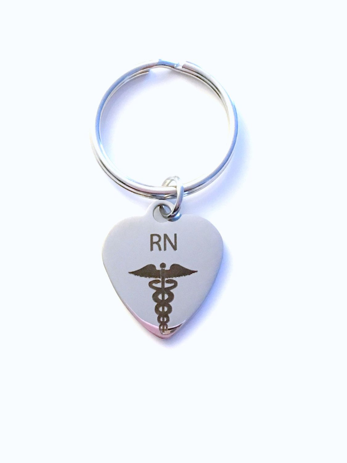 Gift for registered nurse rn keyring rn keychain key chain man gift for registered nurse rn keyring rn keychain key chain man men male plain simple stainless steel laser engraved iron steel key ring biocorpaavc Gallery