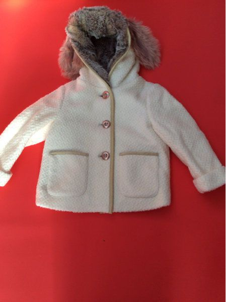 cd03ef0a5f7e Next Girls Cream Bunny Jacket Faux Fur with Ears Signature ...