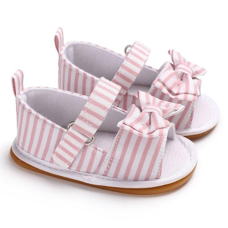 c38f372ae0374 Raise Young Cotton Fabric Summer Baby Girl Sandals Butterfly-knot Rubber Soles  Toddler Girl Shoes