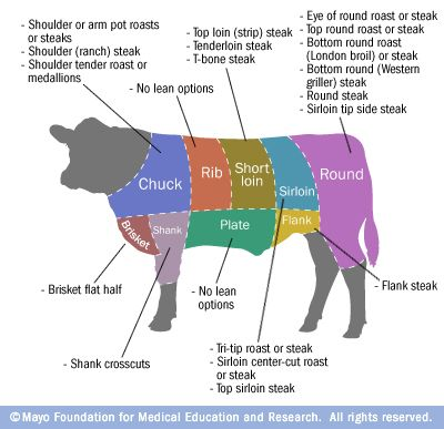 Common Lean Cuts Of Beef Meat Cow And Food