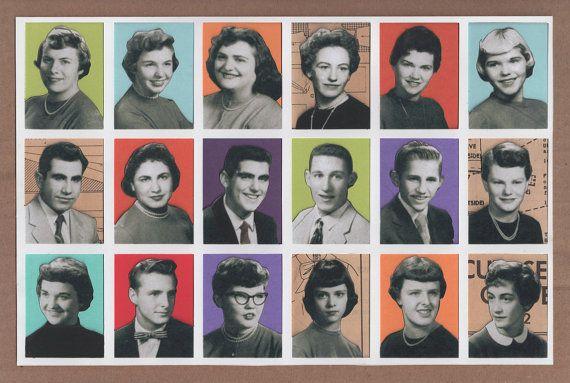 Yearbook Collage vintage