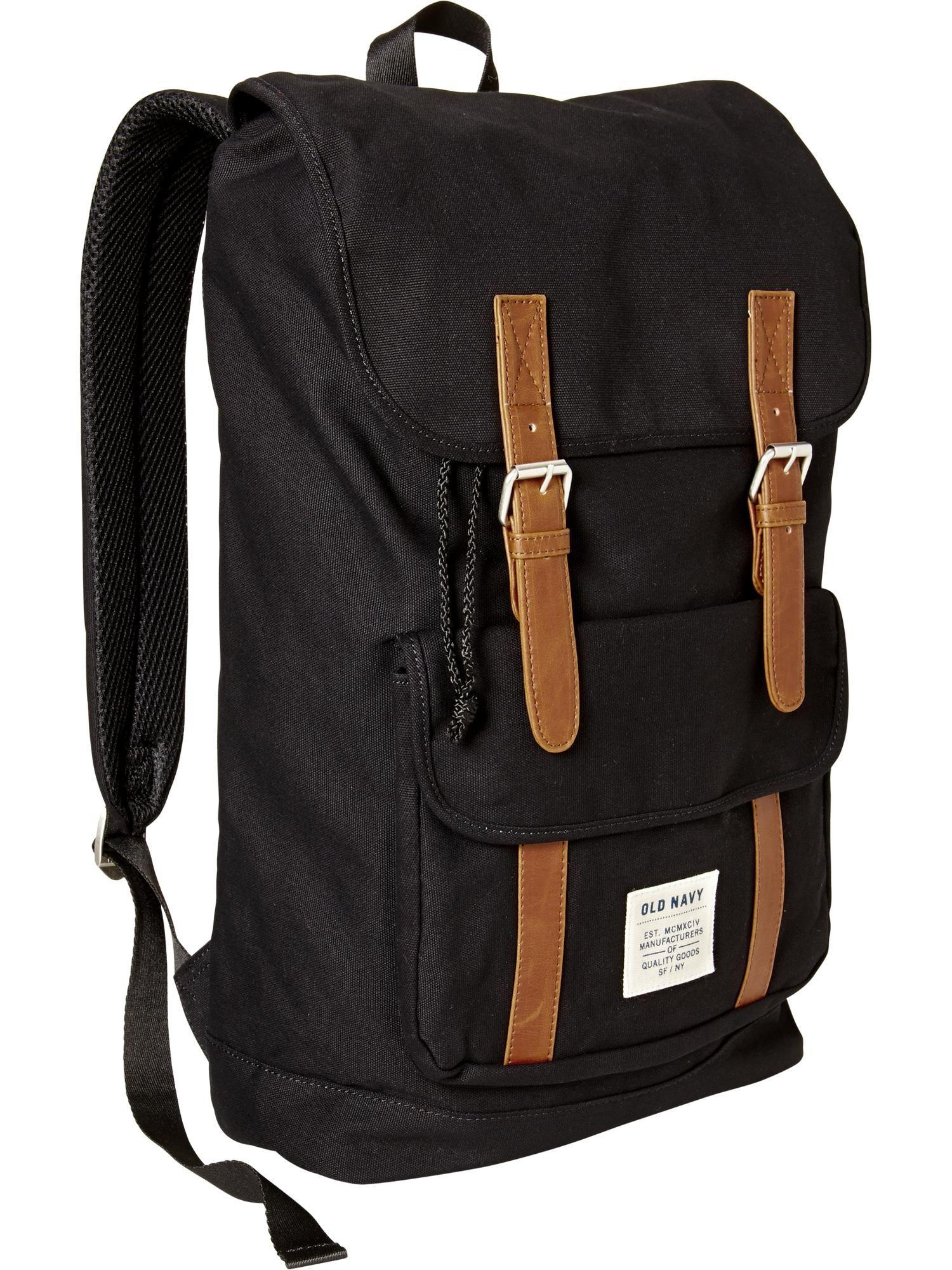 a595051f0dd1 Mens Navy Canvas Backpack- Fenix Toulouse Handball