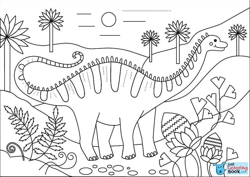 Apatosaurus Dino Coloring Page