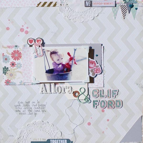 #papercraft #scrapbook #layout Allor & Clifford by michellewedertz @2peasinabucket