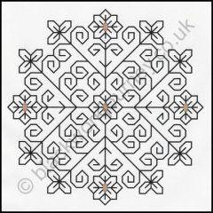 FR0006 - Persian Flower free blackwork chart