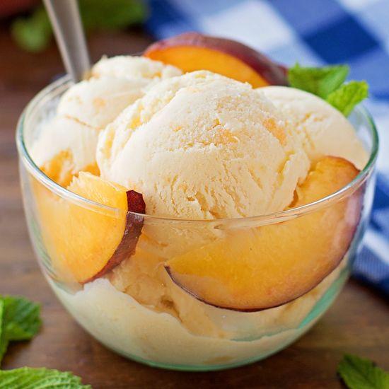 Buttermilk Peach Ice Cream Life Made Simple Recipe Ice Cream Peach Ice Cream Cream