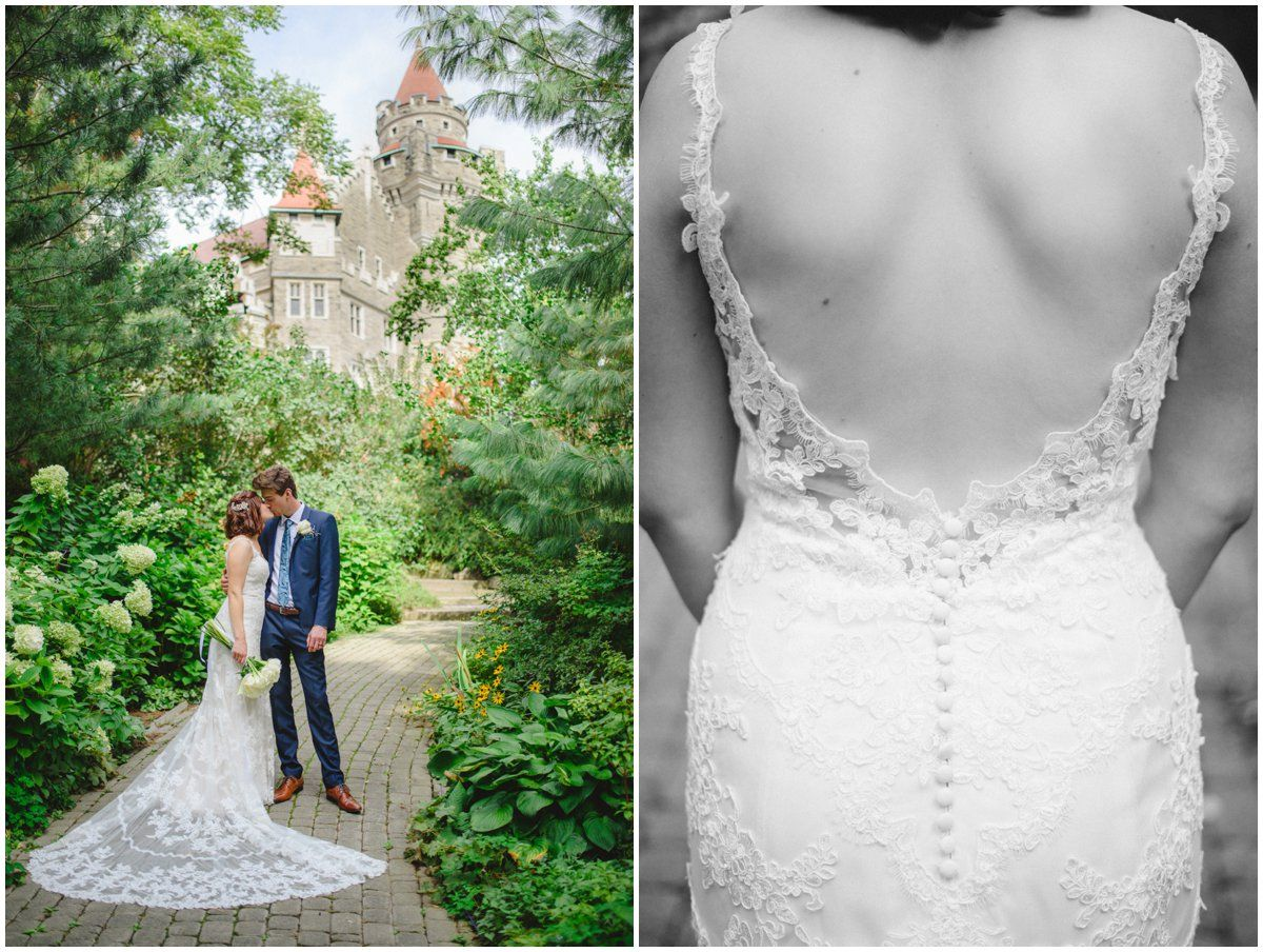 One of a kind wedding dresses  Stella York trail gown photo by Arynn Photography Toronto and Durham