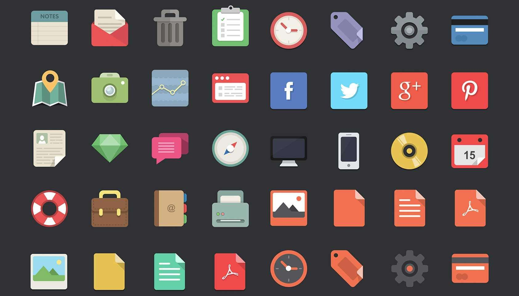Free Download 48 Flat Designer Icons Icon Design Basic Design Principles Web Design