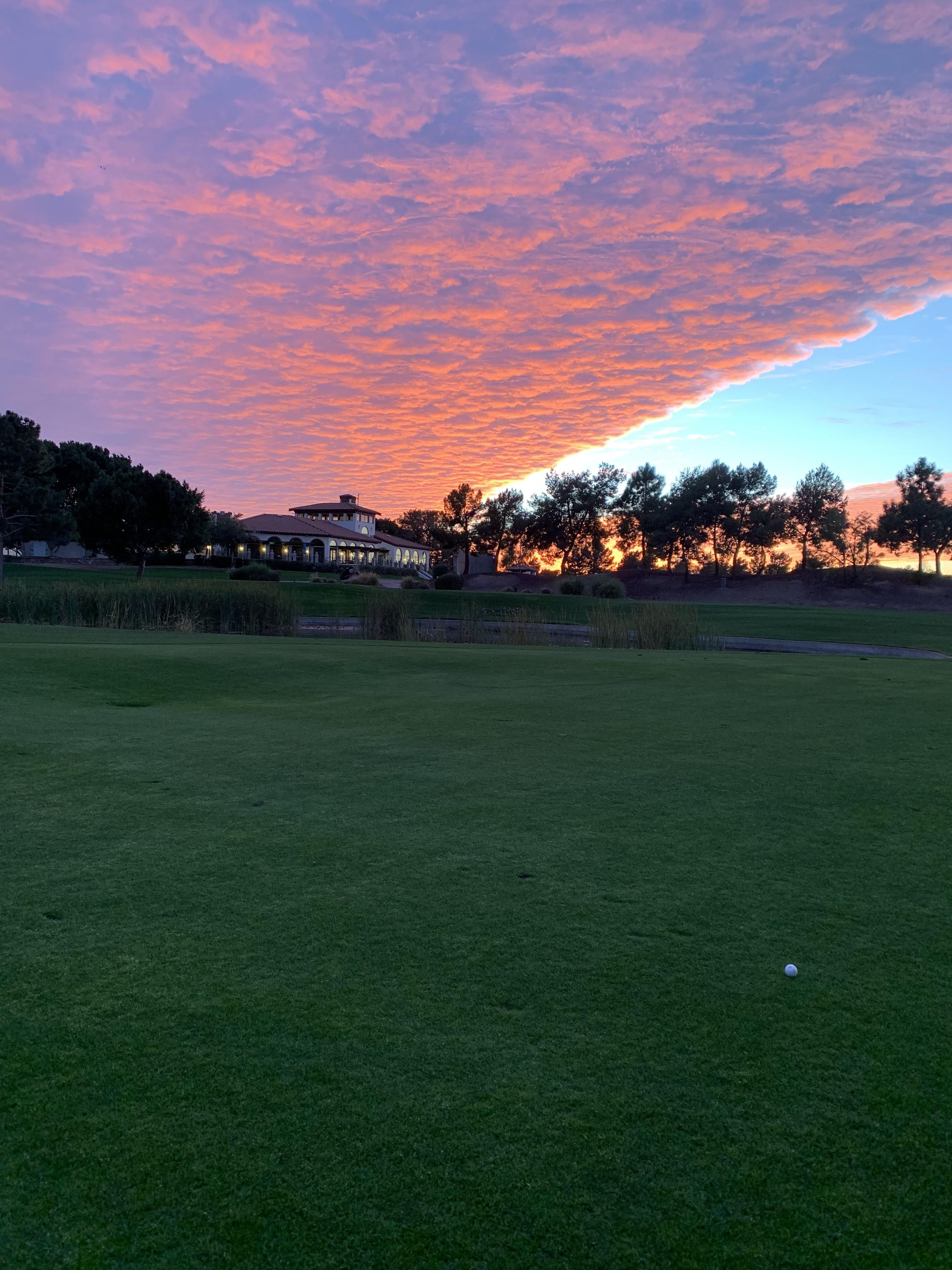 Sunset over a golf course in Phoenix Arizona. Reminded me