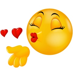 Cartoon Smiley Emoticon Making Air Kiss Funny Emoticons Funny Emoji Funny Emoji Faces
