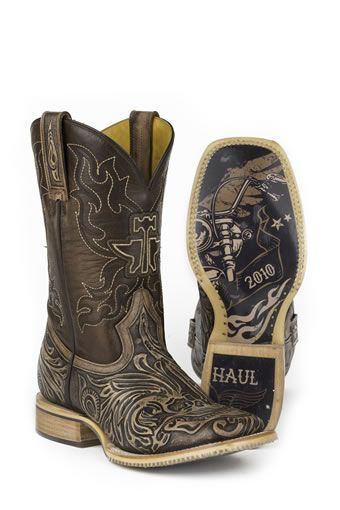 bba467d2773 Tin Haul® Men's Tooled Skull Boots w/ Warrior Rider Sole #TinHaul ...