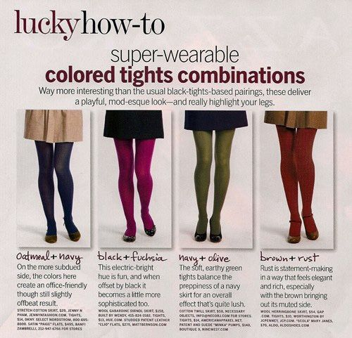 cbc0c25da41 15 Fashion and Style Tips On How To Wear Colored Tights