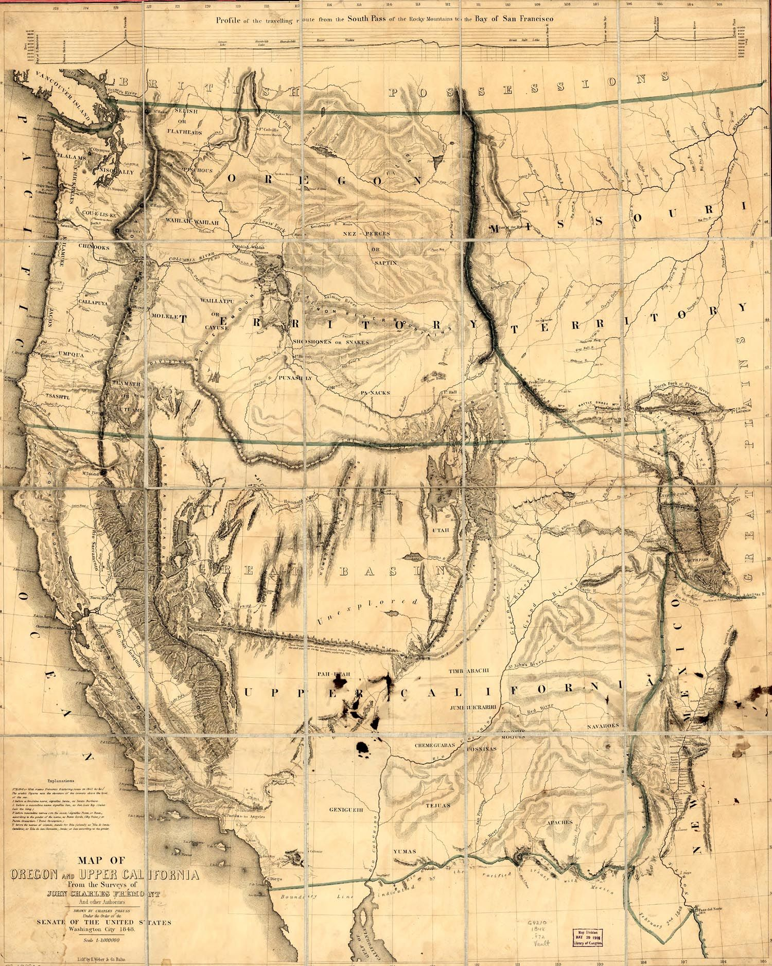 Map of Oregon and Upper California: 1848. From the Surveys of John Yellowed Map Of California And Nevada on map of boomtown nevada, map of nevada usa nuketown, map of wyoming cities and towns, map of nevada minerals, map of sierra nevada mountains, detailed map nevada, map of active mines in nevada, lovelock nevada, map of boston and surrounding towns, map of nevada county california, map of nevada reno sparks, show me a map of nevada, map of nevada counties, map of northern nevada, google maps nevada, map of california nevada border, map california-nevada arizona, map of north nevada, driving map of nevada, map of grand canyon nevada,