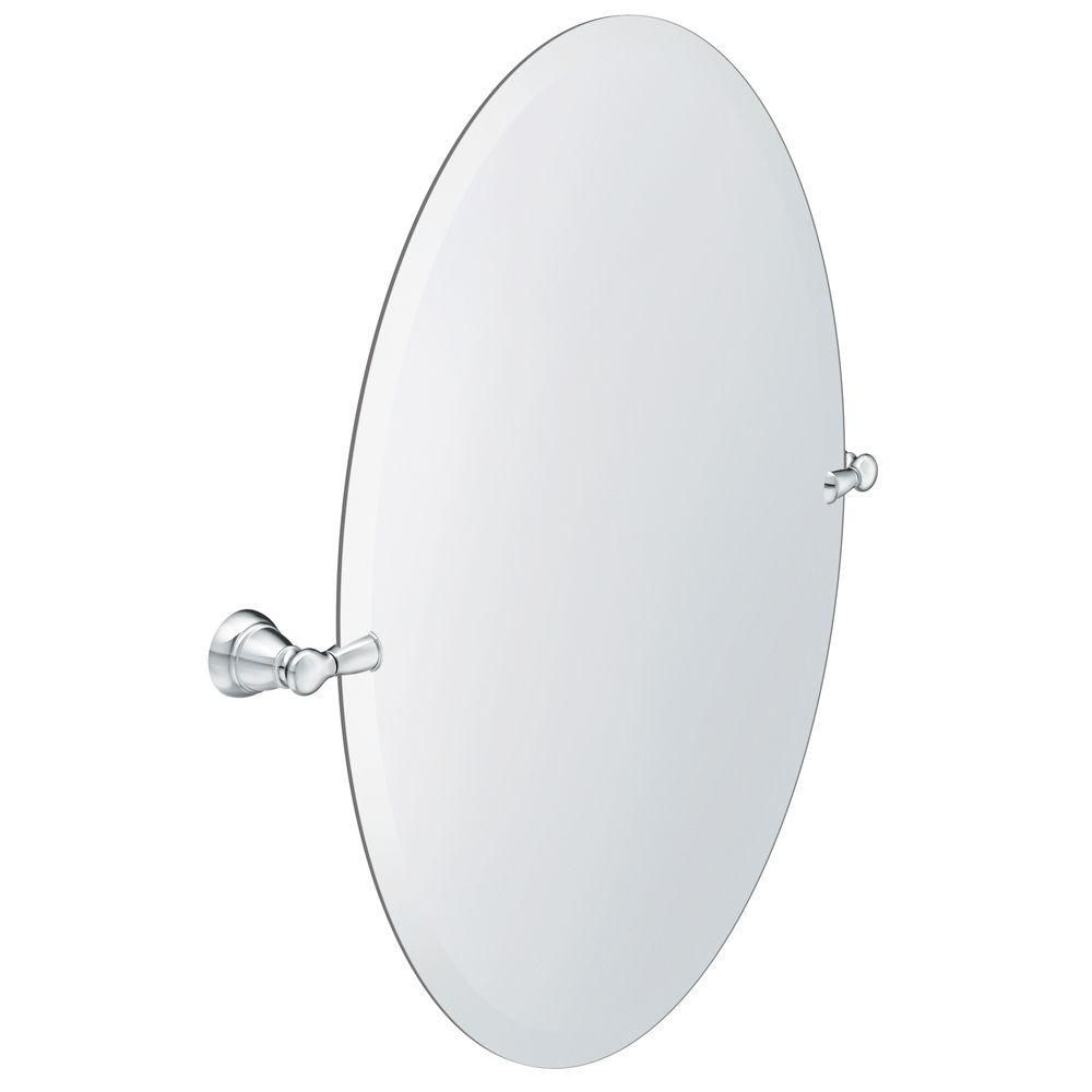 Banbury 23 Inch X 26 Inch Frameless Pivoting Single Wall Mirror In