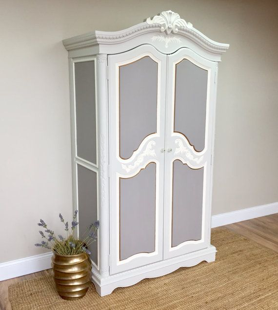 Large Armoire, French Provincial Style, Shabby Chic Wardrobe, Armoire  Closet, Country Cottage Furniture, French Country Bedroom Furniture