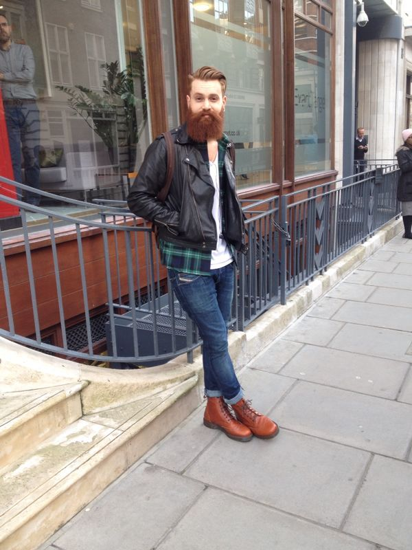 handsome full thick red beard and mustache beards bearded man men ...