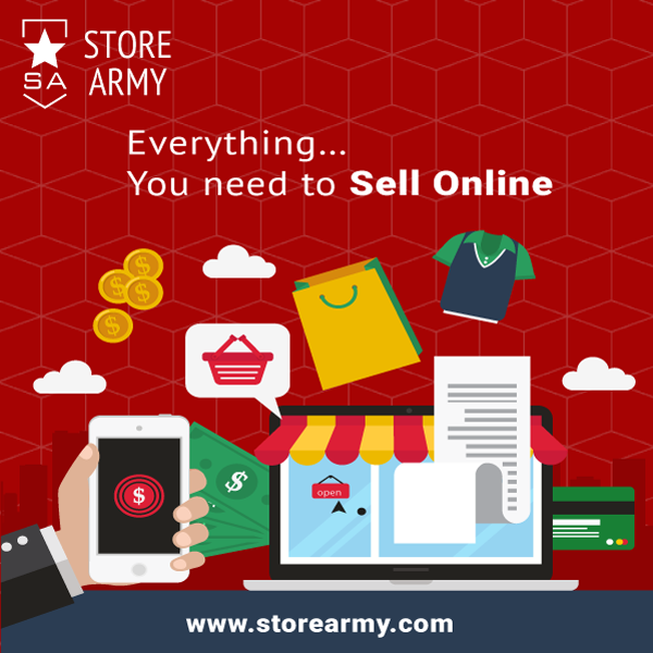 Everything you need to sell online. Create your own free
