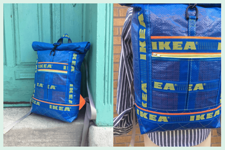 e40fe60298 Sew good! A Roll-Top Backpack from IKEA Blue Bags - IKEA Hackers