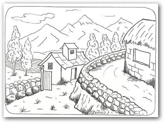 Dibujos Para Colorear Paisajes Fotos O Imagenes Portadas Para Facebook Paisaje Para Colorear Paisajes Dibujos Paisaje Para Pintar