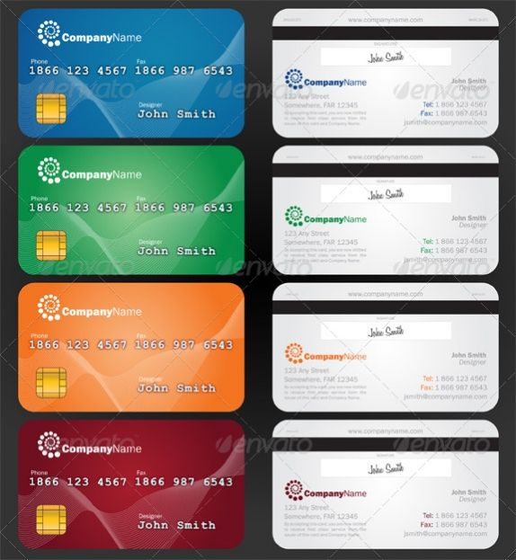 Credit Card Style Paper Business Card Premium Template best – Credit Card Template Word