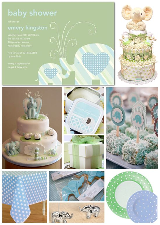 Baby Shower Ideas | Baby Shower Invite   Elephant Theme
