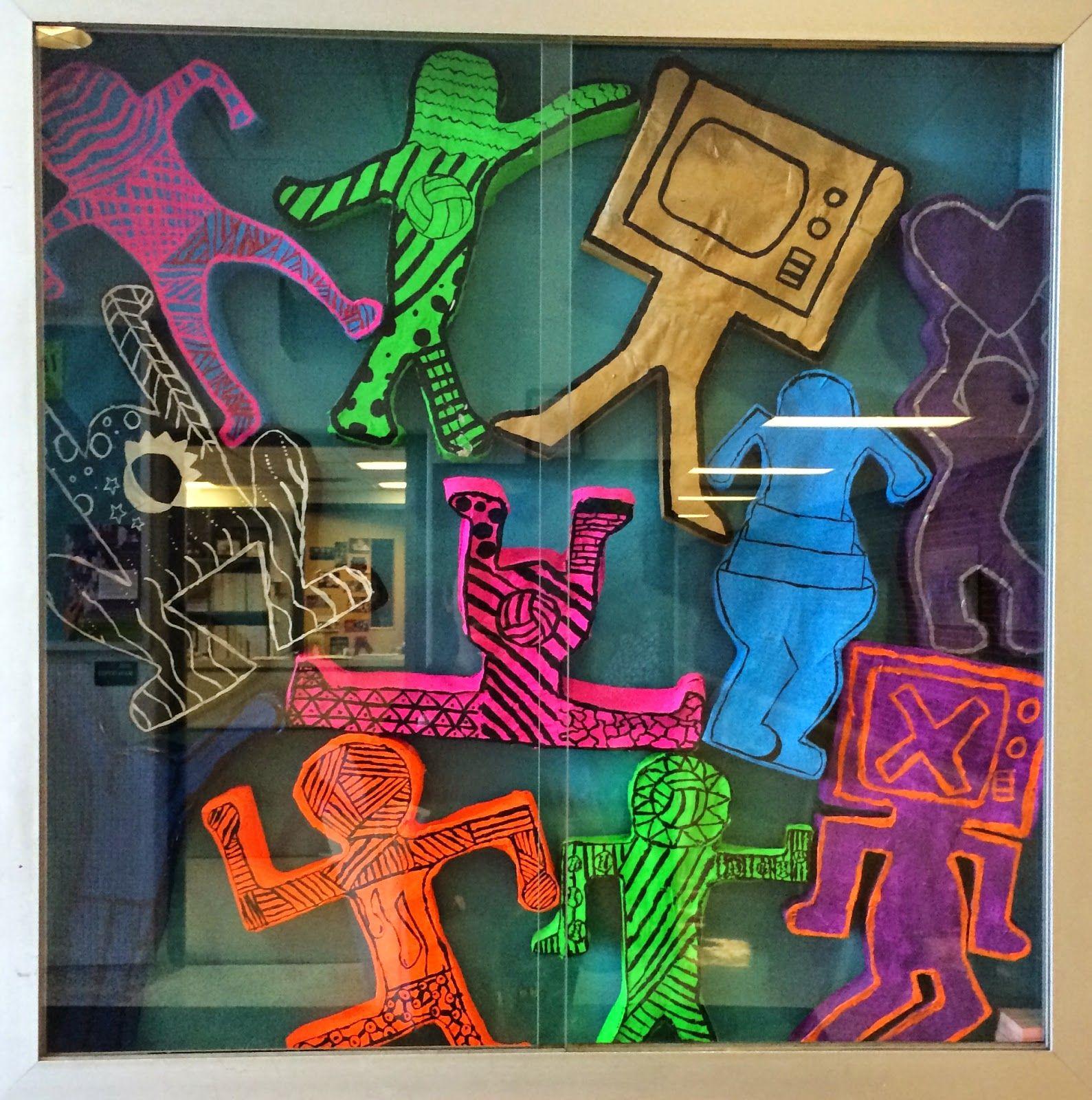 Art Paper Scissors Glue Keith Haring Sculptures