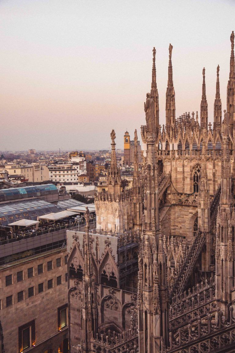 Here's where to find one of the best views in Milano, Northern Italy: the terrace atop the Duomo di Milano in Lombardia