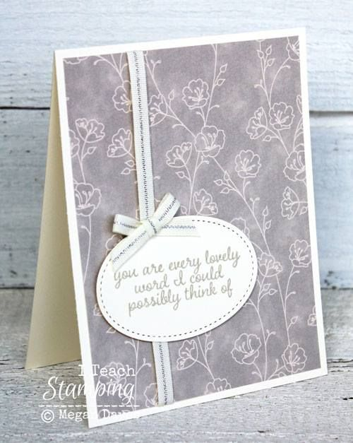 Card Making Ideas And Techniques Part - 31: Card Making Ideas | Paper Craft | How To Tie A Bow | Stampin Up Cards