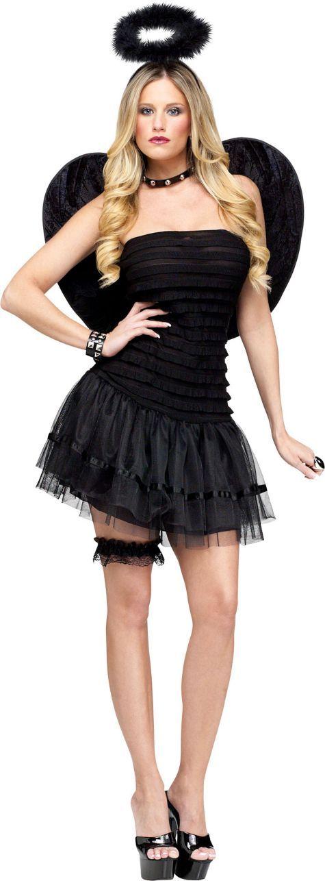 Definitely need the choker for a fallen angel Halloween Costumes - angel halloween costume ideas