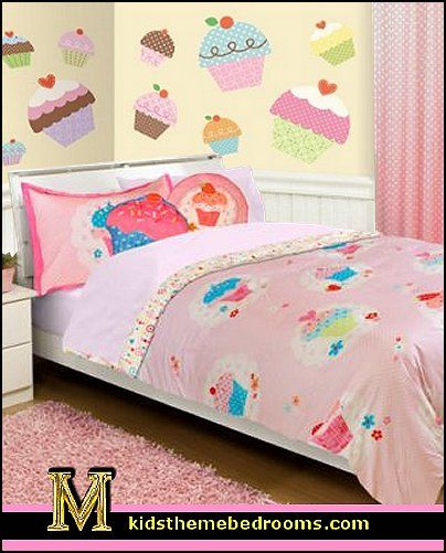 Cupcakes bedroom ideas cupcakes theme decorating for Candyland bedroom ideas