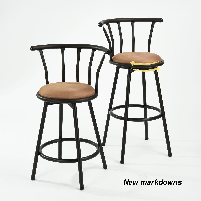 Furniturer 24 29 30 Swivel Counter To Bar Height Barstool
