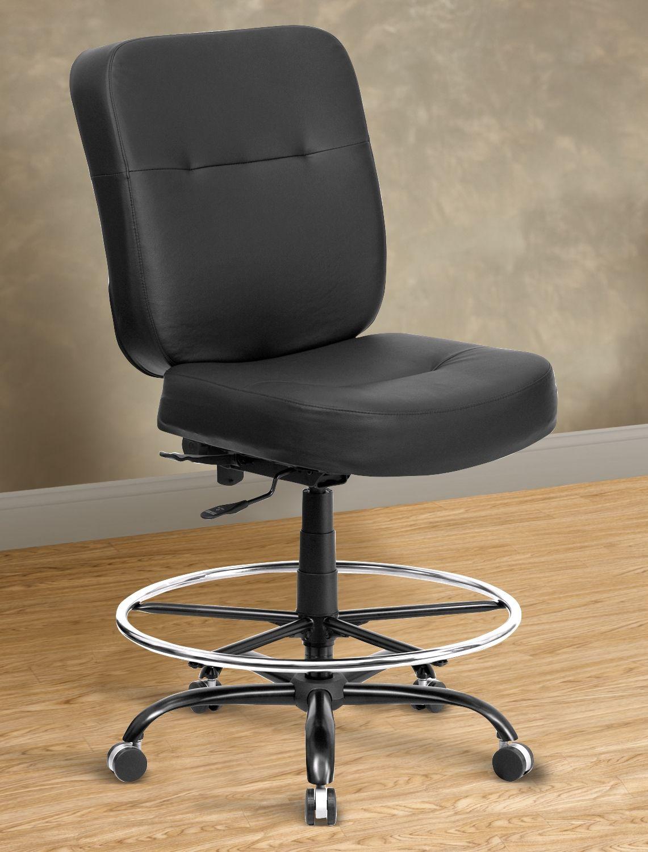Hercules extrawide leatherlook drafting chair square
