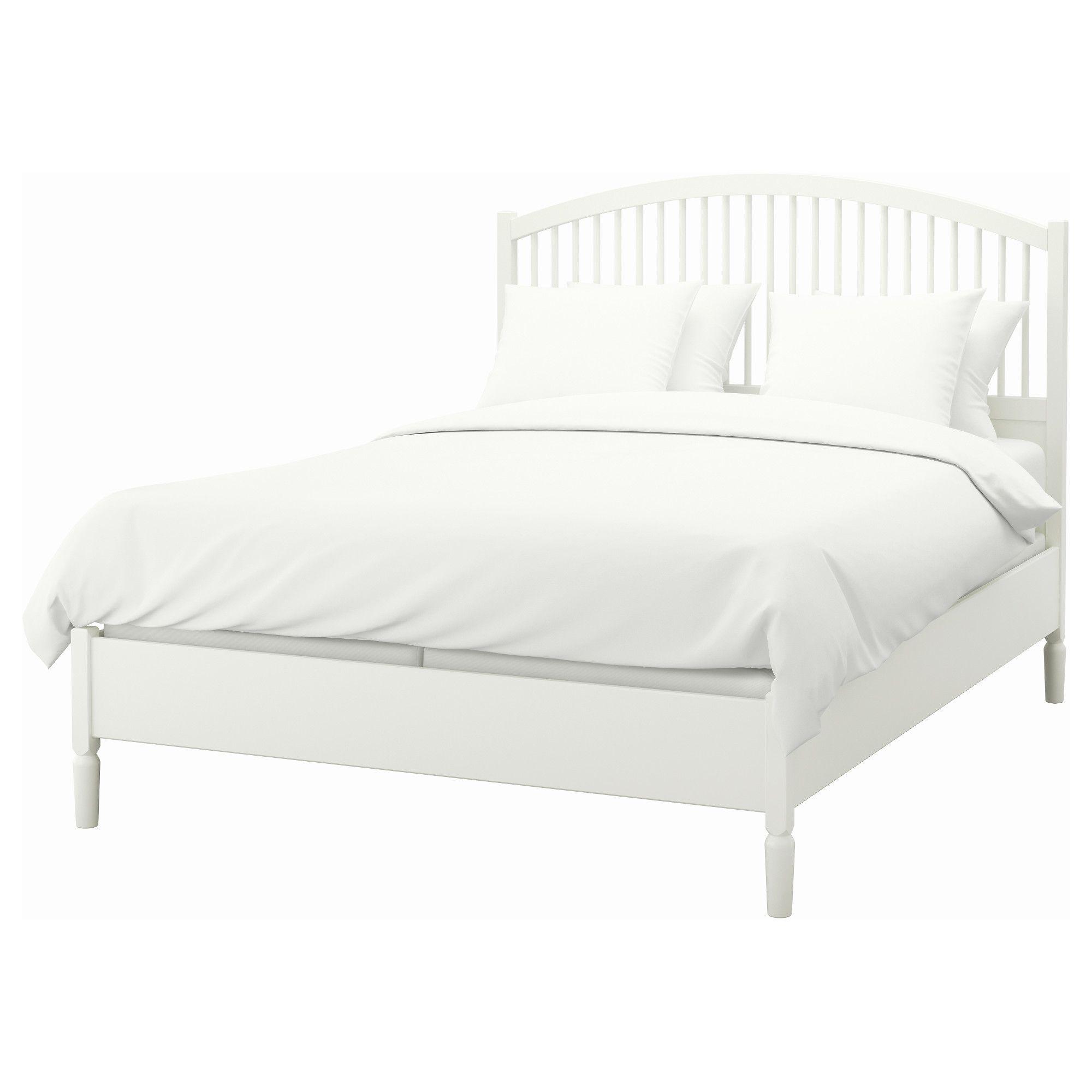 Tyssedal Bed Frame White Eidfjord Queen Bed Frame King Size
