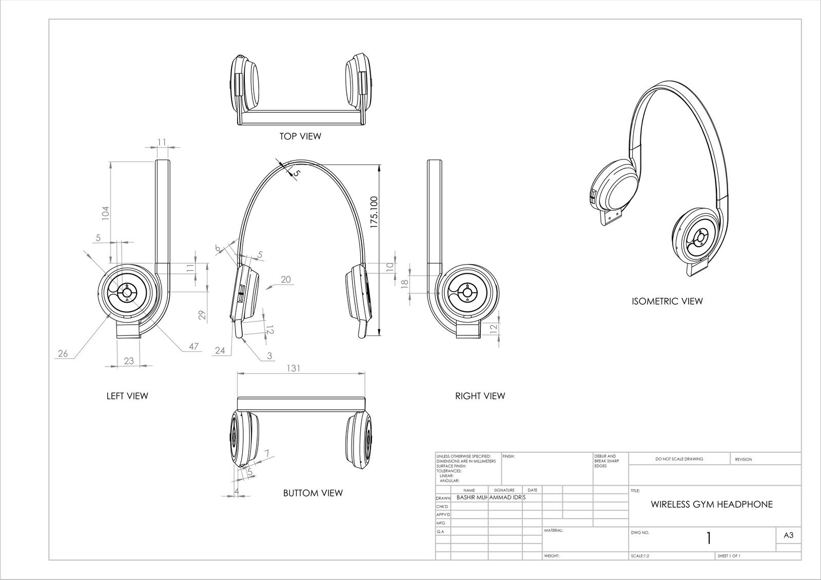 Orthographic Earphone